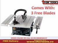 DRAPER 82570 250MM 1800W 230V EXTENDING TABLE SAW + 3 FREE BLADES