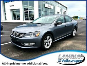 2015 Volkswagen Passat 2.0L TDI Comfortline Manual - Leather / S