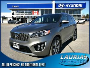 2018 Kia Sorento SX V6 AWD 7-Passenger - LOADED