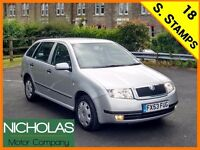 2003 '53 SKODA FABIA ESTATE 1.9 DIESEL /JULY 2017 MOT /18 SERVICE STAMPS/CAMBELT DONE /AIR CON