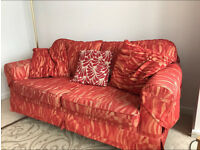 Large 3 seater settee/sofa bed and separate 2 seater settee
