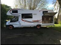 7 Berth Motorhome (Low mileage) Priced to sell
