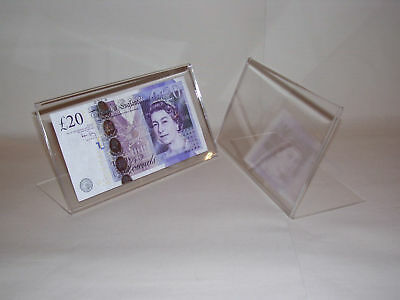 ACRYLIC PERSPEX NOTE DISPLAY STAND     UV PROTECTION