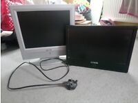 2 small televisions