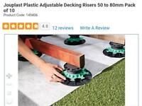 Adjustable decking supports x10