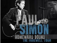 2 x Paul Simon tickets Glasgow Hydro, farewell tour, less than face value