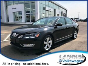2015 Volkswagen Passat 2.0L TDI Comfortline Manual - Low kms