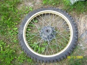 Yamaha YZ490 front wheel and tire 3.00-21 21 inch rim