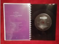Erasure Blue Savannah No G.D.M. A5 Handmade Vinyl Notebook