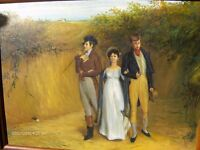 Vintage Oil Painting On Canvas With Wood Frame ,1950s British Oil Painting