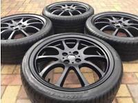 "Genuine 18"" BMW Mini Cooper JCW R105 Twin Spoke Refurbished Alloy wheel & tyres"