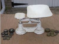 Antique kitchen Scales & weights