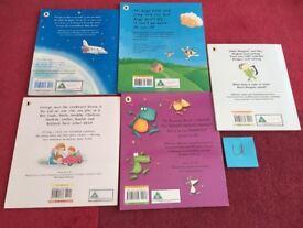 Set of 5 Children's Story Books & DVD Set U
