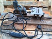 "wolf cub drill 1/4""and small circular saw on original saw stand vintage .from a time gone by"