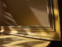 Large Vintage Gold Frame , Italian Wooden Frame