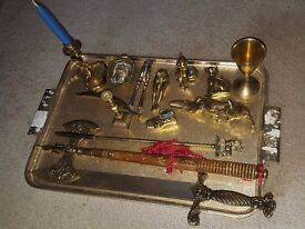 Vintage Massive Brass and brass plated beautiful items joblot Pots and souvenirs ( see pictures )
