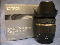 Tamron SP AF 17-50mm f/2.8 XR Di II VC Lens for Canon. Excellent condition. With Hood and Box.