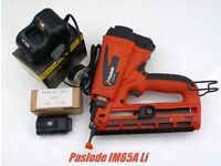 PASLODE IM65A LITHIUM SECOND FIX NAIL GUN ,ONE BATTERY+CHARGER,+12 MONTHS WARRANTY