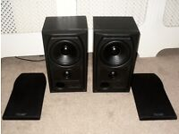 Mission 731 2 Way Hi-Fi Stereo Speakers With Wall Mounts 75W 8 Ohm Black Ash