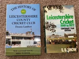 LEICESTERSHIRE COUNTY CRICKET CLUB BOOKS x 2