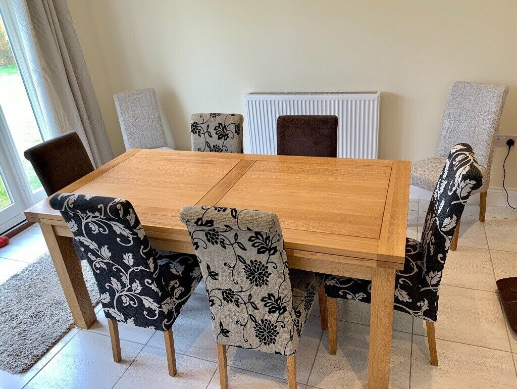 Solid Oak Dining Table 10 Chairs Oak Furniture Land In Capel St
