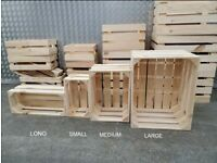 op Quality Wooden Crates In Various Sizes, Veg Boxes, Display Furniture For Shops