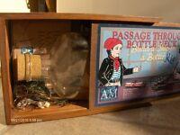 Vintage Model Passage Through A Bottle Neck-Build Ship In A Bottle