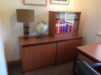 3 x Office Cabinets - 2 Wood, 1 Glass Door Ideal For Study or Dining Room