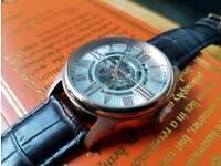 Mens Stuhrling automatic skeleton watch
