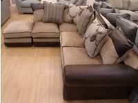 Stag Corner Sofa Brown Tan