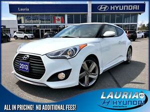 2013 Hyundai Veloster Turbo Auto - 1 owner - Leather / Navigatio