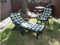Sun Lounger And Chair