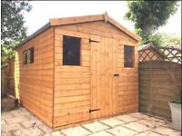 11X8 FT NEW HEAVY DUTY APEX GARDEN STORAGE SHED QUALITY TIMBER FULLY ASSEMBLED
