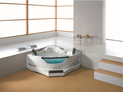 Two 2 Person Corner Hydrotherapy Whirlpool Bathtub Spa Massage Therapy Hot Tub, used for sale  Oceanside
