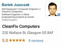 CleanFix Computers - Free Home Call-Out 15 min Drive Around Glasgow City Centre! PC & Laptop Repair