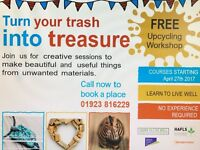 Free Upcycling Workshop- Turn your trash into treasures!