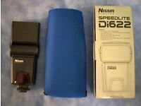 Nissin Di622 Flashgun. Canon fit. Mint condition. Boxed. With case