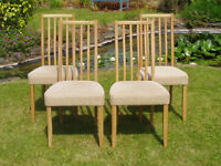 Stunning set of four Ercol Oak Artisan Dining Chairs, model 2263
