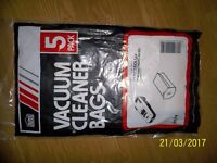 5 X ELECTROLUX VACUUM CLEANER BAGS