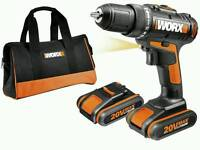 New 20v Cordless Drill with 2 batteries