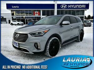 2017 Hyundai Santa Fe XL V6 AWD Ultimate 6-Passenger - Low kms