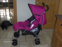 Brand New Mamas and Papas Purple Swirl Stroller