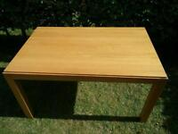 Large Solid light oak dining table / Barker & Stonehouse