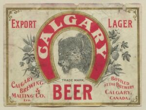 WANTED: Calgary Brewing and Malting Co. Items
