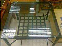 Free glass and iron coffee table up for grabs Gone to new home