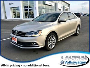 2015 Volkswagen Jetta 2.0 TDI Highline - 1 owner - Leather