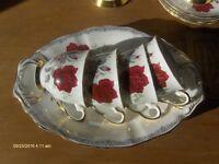 Royal Stafford Bone China 'Roses to Remember, Coffee Set Tae Set