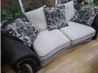 Comfortable, large three seater SOFA plus five huge pillows extra free