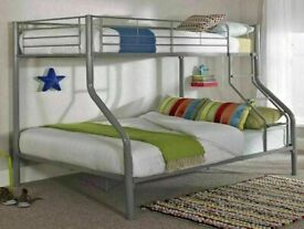 🔵💖SUPER SALE🔵💖kids bed/Trio Metal Bunk Bed Frame-optional mattress-call now