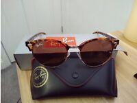 RayBan Retro Round Sunglasses Leopard Brown
